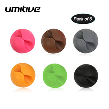 цена на Umitive 6pcs/Set Office Accessories Winder Desk Organizer Set For Data Cable Headphone Cable Mouse