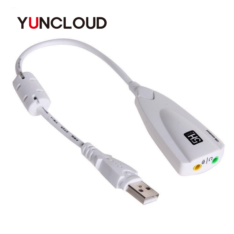 YUNCLOUD External Sound Card USB 2.0 to Jack 3.5mm 3D Audio Headset Microphone 7.1 Channel 5HV2 Adapter For Laptop Professional все цены