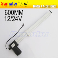 K600 24 inch(600mm) stroke SLIDER BLOCK Electric linear actuator motor DC 24V 15mm/s Heavy Duty Push 150Kg Health bed TV lifting
