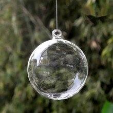 Diameter=7cm Mini Size Christmas Ball Transparent Glass Globe Hotel School Window Wedding Decoration Glass Ball Christmas Day