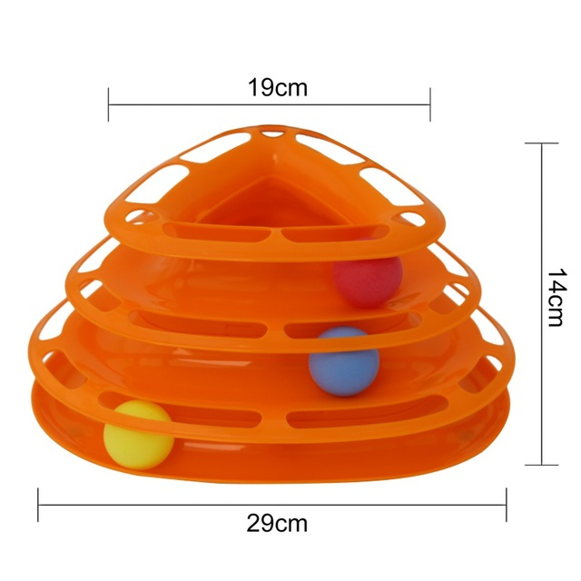 Triple Play Disc Cat Toys Balls For Fun and Entertainment