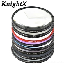 KnightX 49 52 55 58 67 77 mm UV CPL filter for Sony Pentax Nikon Canon D5200 100D EOS 400D D5300 D3300 D5500 ND ND2 ND4 ND8 ND16