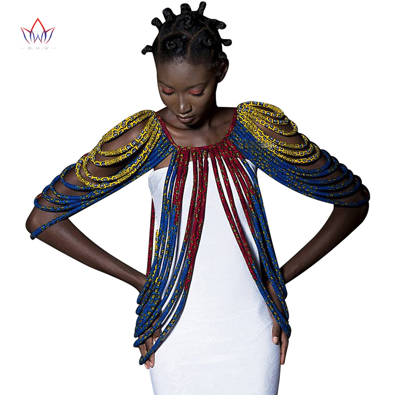 2019 africain Ankara à la main sangle colliers accessoires de mode bijoux cadeau Afircan tissu imprimé collier châle SP002