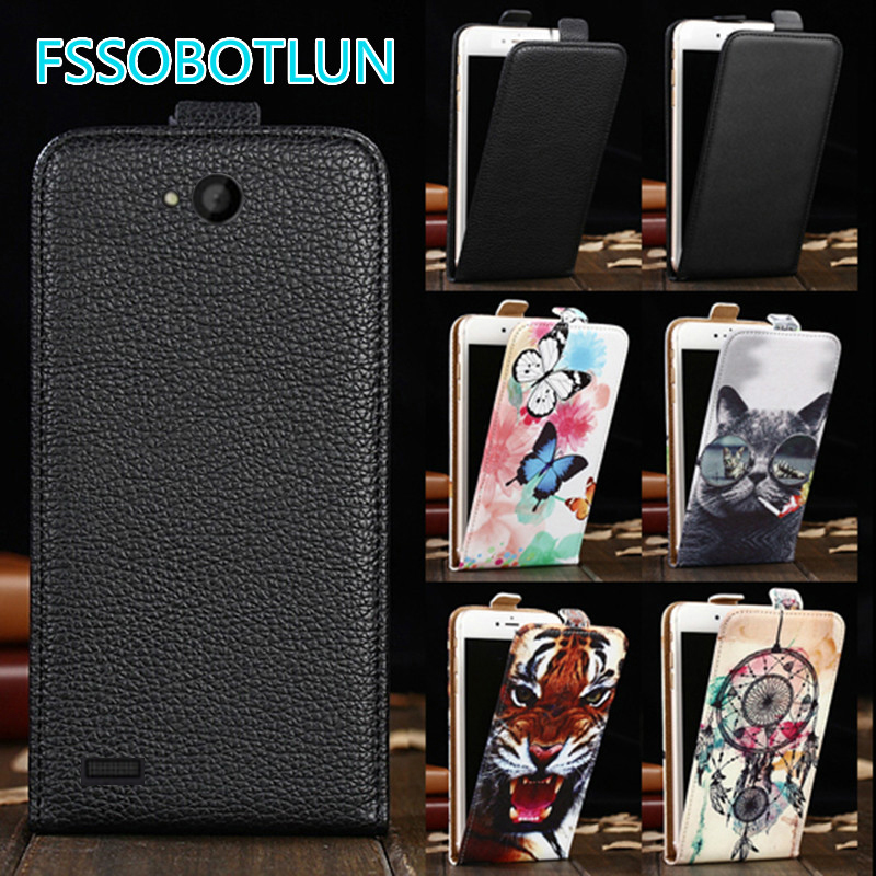 Factory direct! For Fly IQ4418 ERA Style 4 Luxury Cartoon Painting vertical phone cover bag flip up and down PU Leather Case