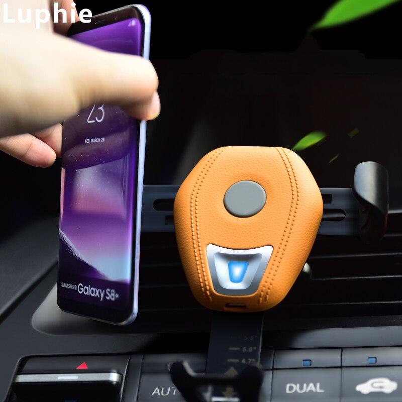 Chargeur sans fil de voiture 10 W chargeur rapide Qi gravité chargeur de voiture sans fil support de chargeur de téléphone de voiture pour iPhone XS Max