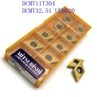 vp15tf ue6020 20PCS DCMT11T304 / DCMT32.51 VP15TF / UE6020 / US735 קרביד להב פנימי מפנה מחרטה כלי CNC גַיֶצֶת כלי (5)