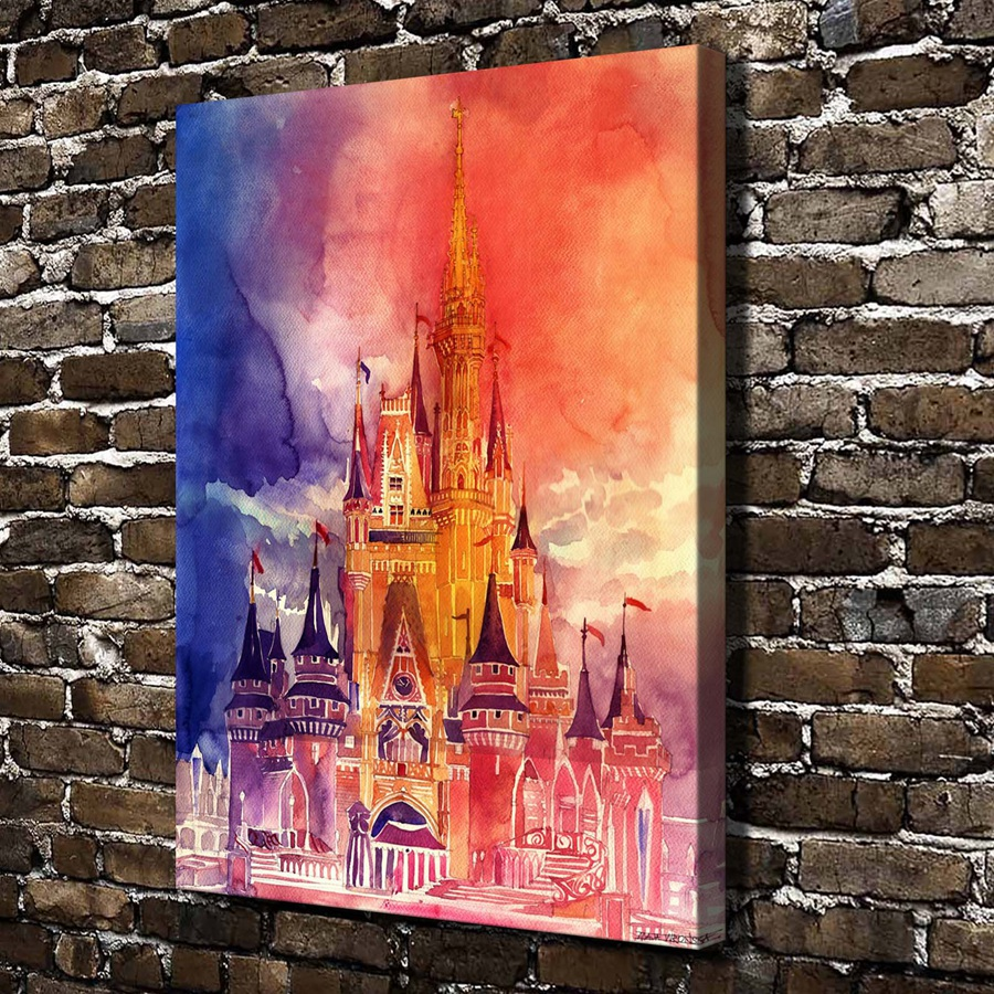 online get cheap cinderella castle painting -aliexpress