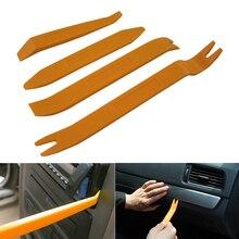 Profesional 4 piezas naranja ABS automóviles de Audio Clip de la puerta del Panel frontal Auto Radio eliminación palanca herramientas del Panel del coche herramienta de extracción