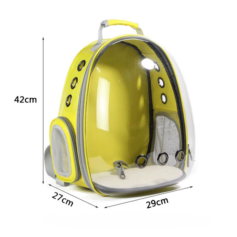 1pc Pet Travel Bag Transparent Pet Backpack Breathable Kitty Puppy Chihuahua Small Dog Cat Shoulder Carrier Crate Outdoor Cave #4