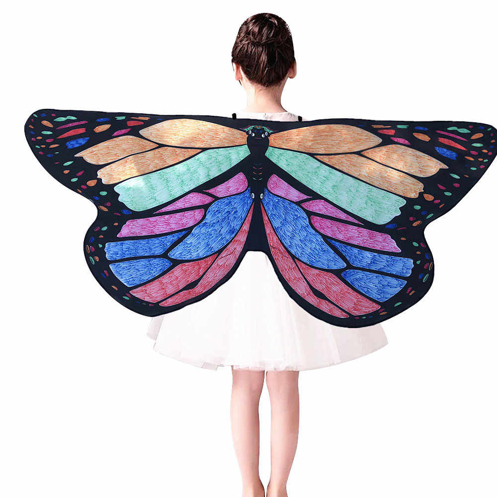 56e7bfeb2f0 Detail Feedback Questions about Feitong 2019 Shawl Kids Child DIY Butterfly  poncho xales e ponchos Cape Wings Creative Angel Wings Dress up Costume on  ...