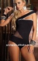 الجملة مثير المرأة يتوهم اللباس نادي ارتداء قفزة دعوى أسود واحد الحجم 11063