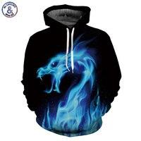 Mr.1991INC Hot Fashion Hoodies Men/women 3d Sweatshirts Print Fire Dragon Hooded Hoodies Snake Sweatshirts Unisex Pullovers