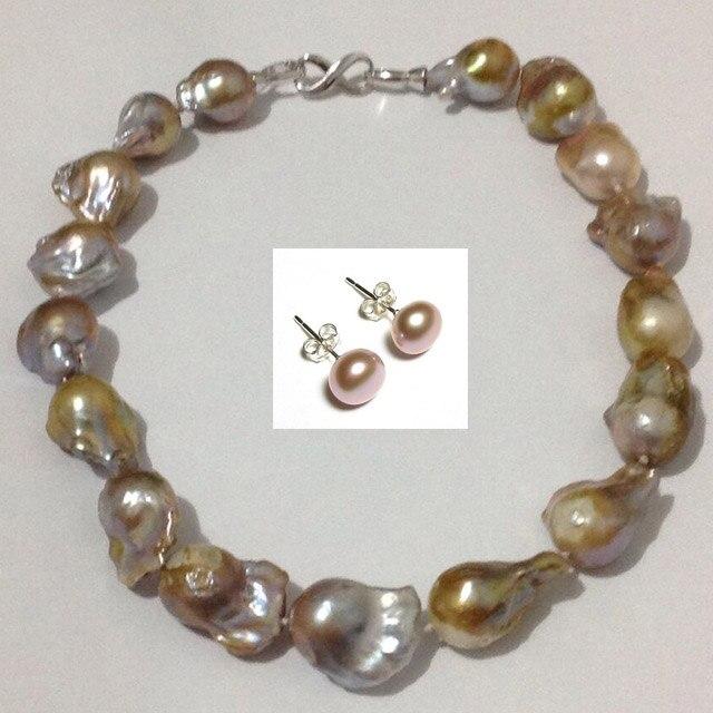 Здесь продается    Large shaped natural baroque pearl necklace nude color 1pc High-grade female short paragrap earring gift   Ювелирные изделия и часы