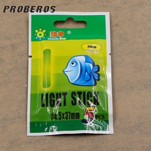 1 pack = 5Pcs 3.5cm Floating Fire Burning Night Fishing Lamp Sticks Color Darkness is Useful…