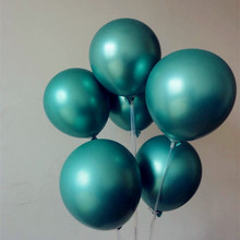 hot deal buy new metal balloons 15 latex ballons 12 inch thick round green balloon wedding decorations birthday party supplies kids toys