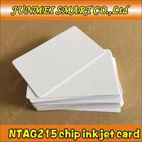 100pieces nfc 215 Chip Card Inkjet Printable NFC Card Can Written by Tagmo Works with Switch