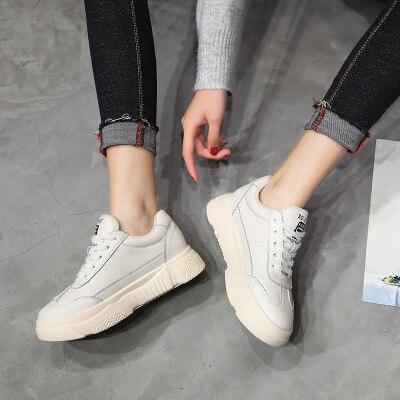 Casual Blanc Femmes 1 2019 De Nouvelle Sauvages D'hiver Chaussures Et Plates Version Automne Coréenne Avec Épais mvwNO8n0