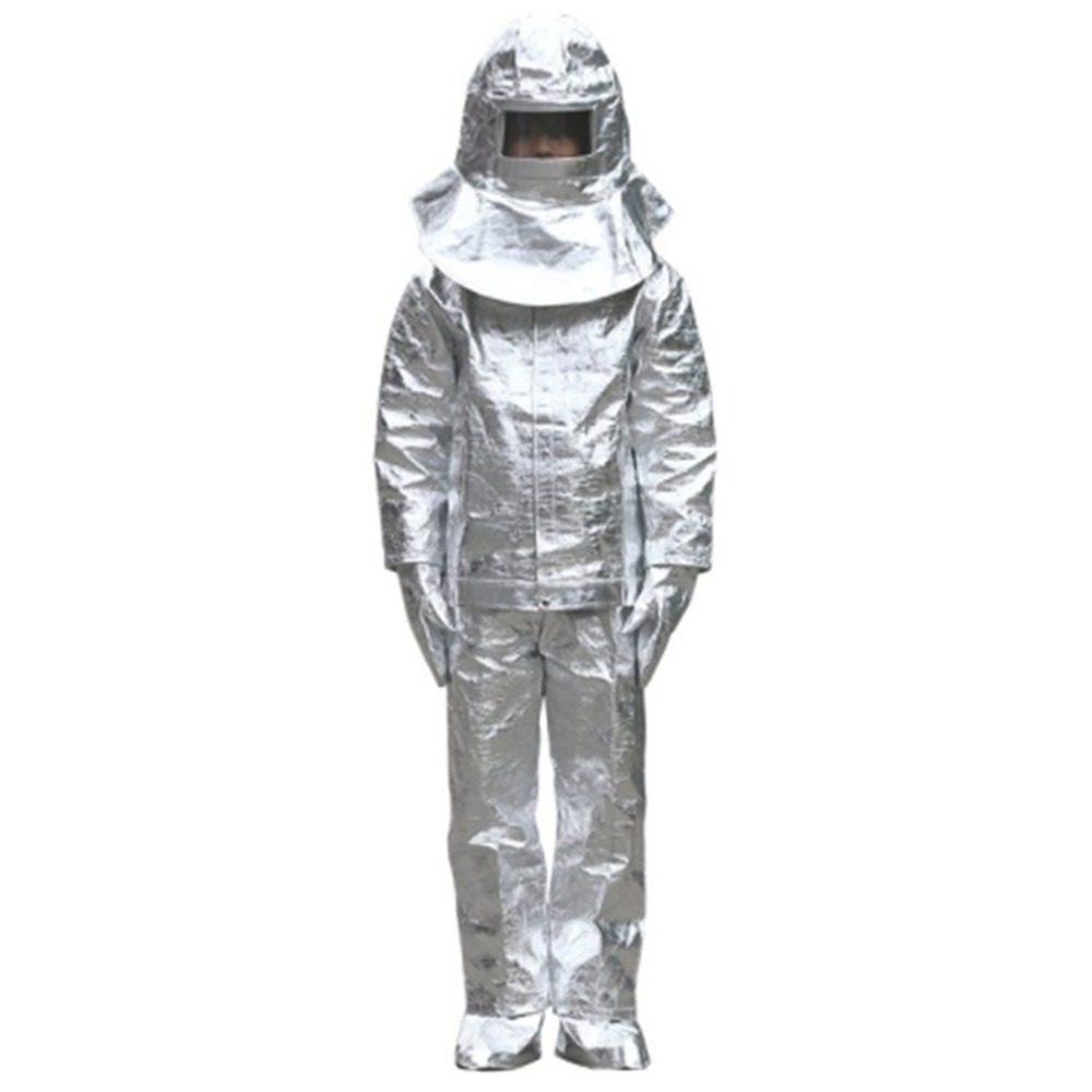 Aluminum Foil Fire Protected Clothes Thermal Insulation Clothing Fireproof Aluminum Foil Heat Insulation Clothes Full SetAluminum Foil Fire Protected Clothes Thermal Insulation Clothing Fireproof Aluminum Foil Heat Insulation Clothes Full Set