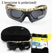 купить Men military goggles 3/5 lens Polarized Ballistic Military Sunglasses Army Bullet proof Eyewear shooting glasses Cycling по цене 1163.24 рублей