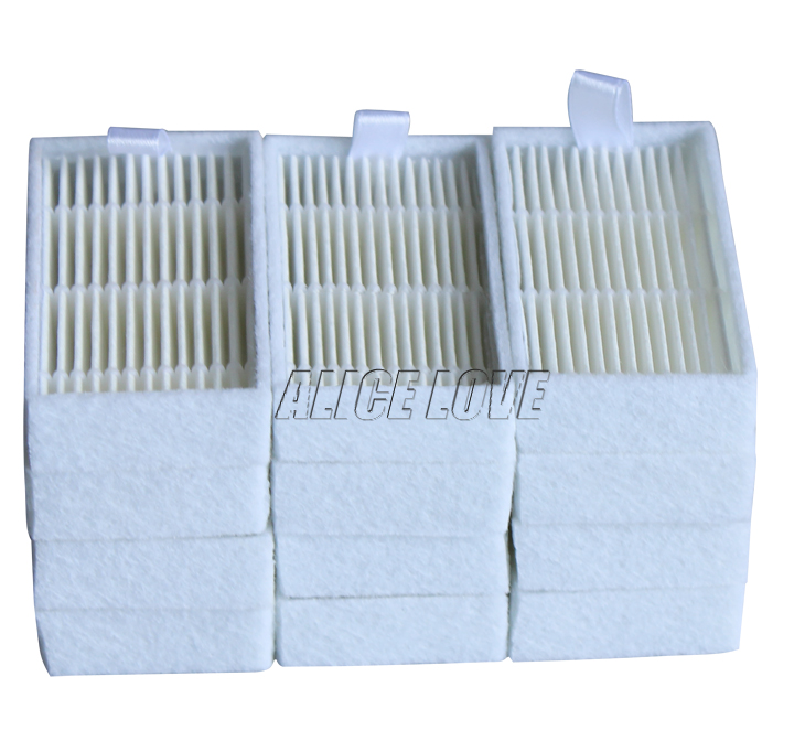 12pcs Vacuum Cleaner Filters HEPA Filter for ECOVACS CR130 cr120 CEN540 CEN250 ML009 CHUWI V3 iLife V5 V3+ V5PRO Cleaner Parts total 12pcs filters