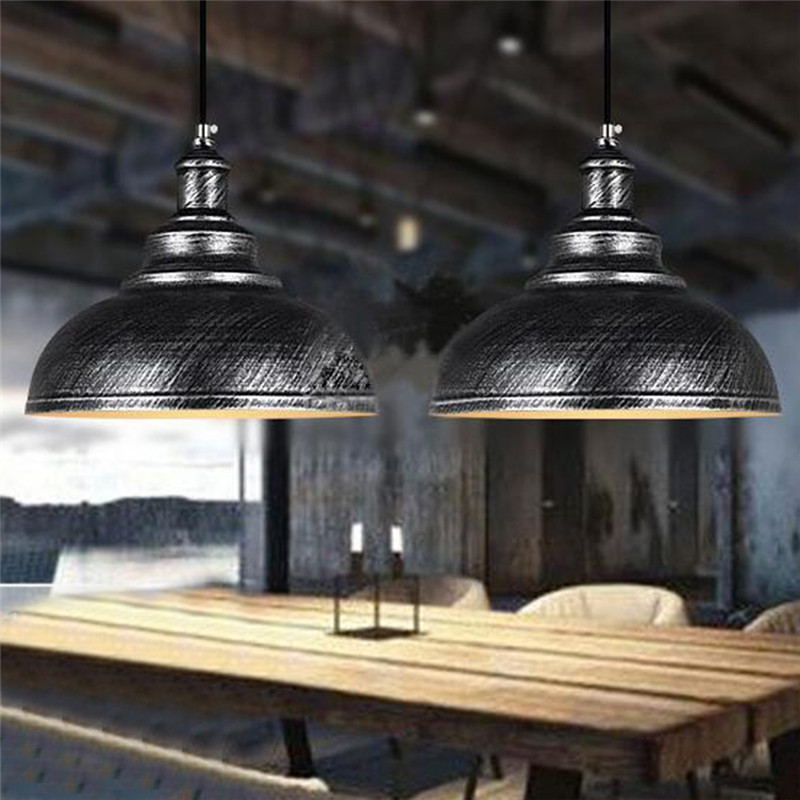 Vintage Chandelier Industrial Dining Room Light Restaurant Simplicity Chinese Iron Chandelier Bronze Black Silver Led Chandelier