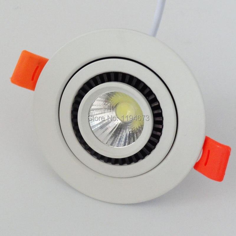 Бесплатная доставка 360 градусов вращающийся Регулируемый 10 Вт затемнения светодиодные светильники УДАРА Утопила лампада luces 95 В-265 В 12 шт.