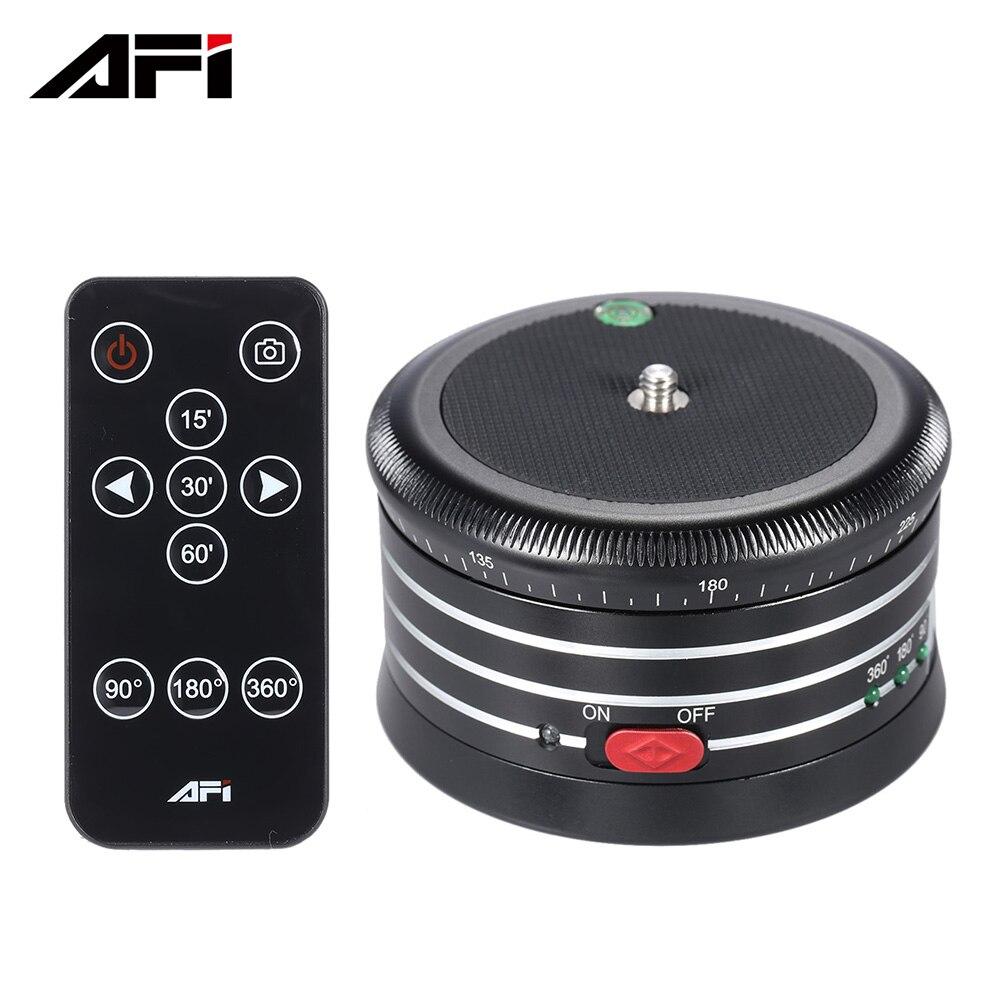 AFI MRA01 Professionnel 360 Métal Électrique Panorama Trépied Rotule w/Télécommande pour GoPro Camera Action DLSRS Smartphones