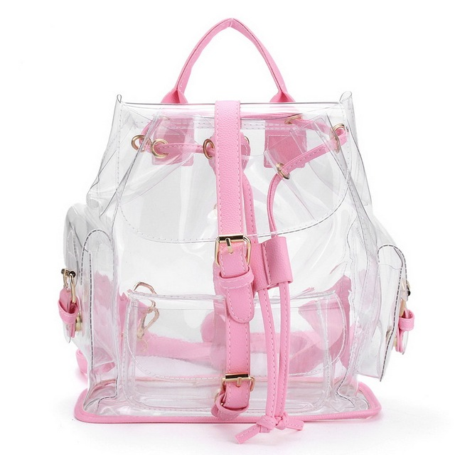 Fashion Shoulder Bag Summer Transparent Bags Korean Version Casual Female  Clear Personalized Backpacks Girl Student Travel Bags 9176b16913