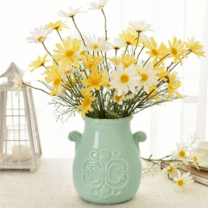 Image 4 - 5หัว/ประดิษฐ์Dasiyดอกไม้ผ้าไหมปลอมดอกไม้ตกแต่งStamen Daisyขนาดเล็กสำหรับงานแต่งงานดอกไม้ตกแต่งบ้าน