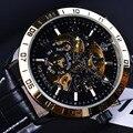 Orkina Real Carving Skeleton Design Moldura de Ouro Relógio Mecânico Automático Relógio Dos Homens Relógios Top Marca de Luxo Relogio Relógio De Ouro Dos Homens
