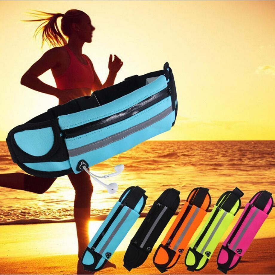 Waterproof Waist Fanny Pack Belt Bag Pouch Travel Sport Hip Purse Men Women Bum