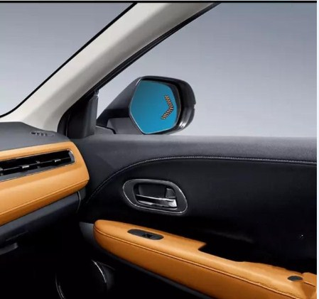 Qirun rear view blue mirror with led turn signal arrow and electric heating for <font><b>Honda</b></font> VEZEL <font><b>HRV</b></font> 2016 CIVIC 2009 image