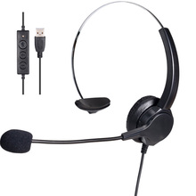 VH500 USB Microphone Adjustable Headband Telephone  Headphone For Office Call Center Customer Service mono Business headset