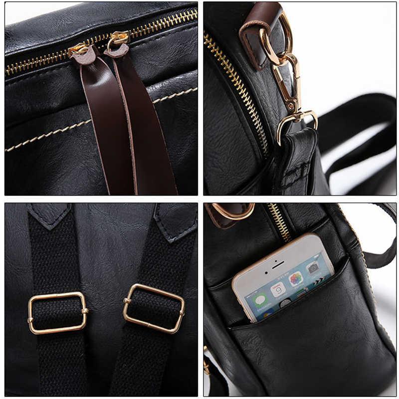 Многофункциональный женский рюкзак из мягкой кожи женская сумка на плечо модные однотонные школьные рюкзаки для подростков женский туристический рюкзак