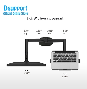 Image 5 - Aluminum Height Adjustable Desktop Dual Arm 17 32 inch Monitor Holder+12 17 inch Laptop Holder Stand OL 3L Full Motion Mount Arm