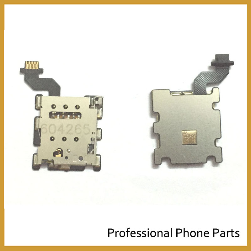 Original For HTC One M8 SIM Card Reader Holder Slot Flex Ribbon Cable Repair Parts