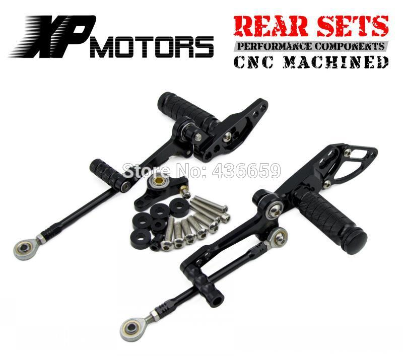 Motorcycle Black Adjustable Foot Pegs Racing Foot Control Rear Sets For Ducati StreetFighter 1098 2009 2010 2011 2012