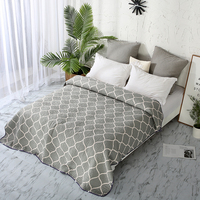 1pcs lantern coverlet Geometric bedspread for teen quilted 200*220 bed cover summer Polyester blanket gray duvet quilt 150*200