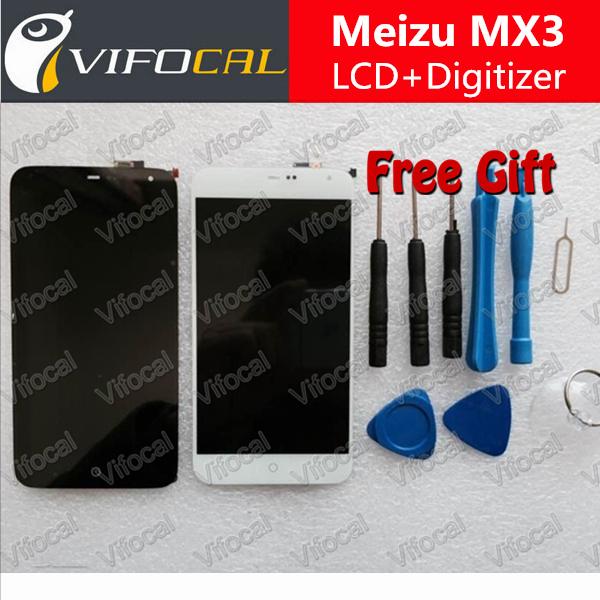 Meizu mx3 display lcd + de toque digitador da tela de substituição de alta qualidade para 1800*1080 5.1 ''mobile telefone + frete grátis-preto
