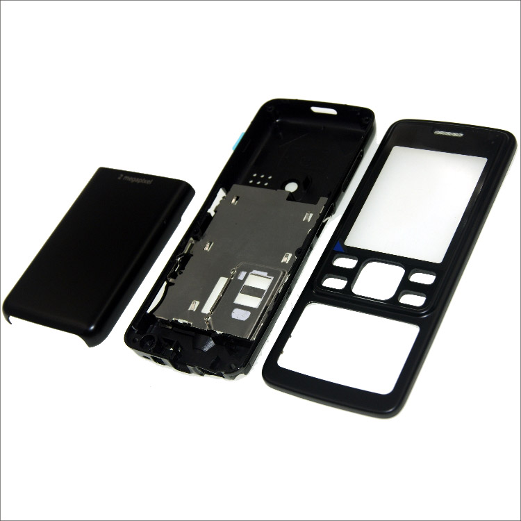 Complete front cover <font><b>6300</b></font> keyboard for <font><b>Nokia</b></font> <font><b>6300</b></font> battery back cover High quality <font><b>housing</b></font>+Keypad image