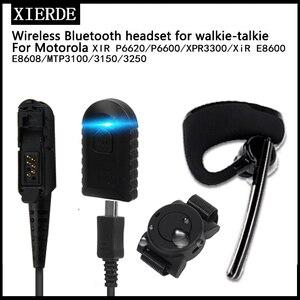 Image 1 - Wireless Bluetooth Headset Walkie Talkie Headphone Headphone for Motorola, for Motorola xir p6600 P6620 3150  PTT Radio Micphone