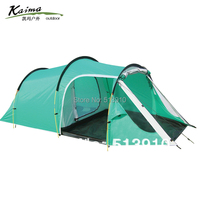 Kaima 3 4persons one bedroom & one living room double layer family and party camping tent tunnel outdoor travel camping tent