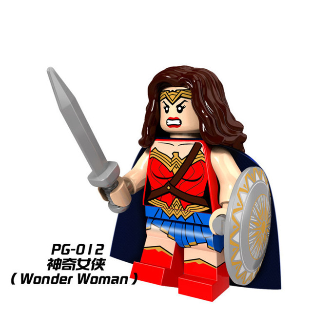 Única venda blocos de construção figuras batman super homem super-heróis mulher maravilha pg012 starwar modelo conjunto de ação bricks diy brinquedos