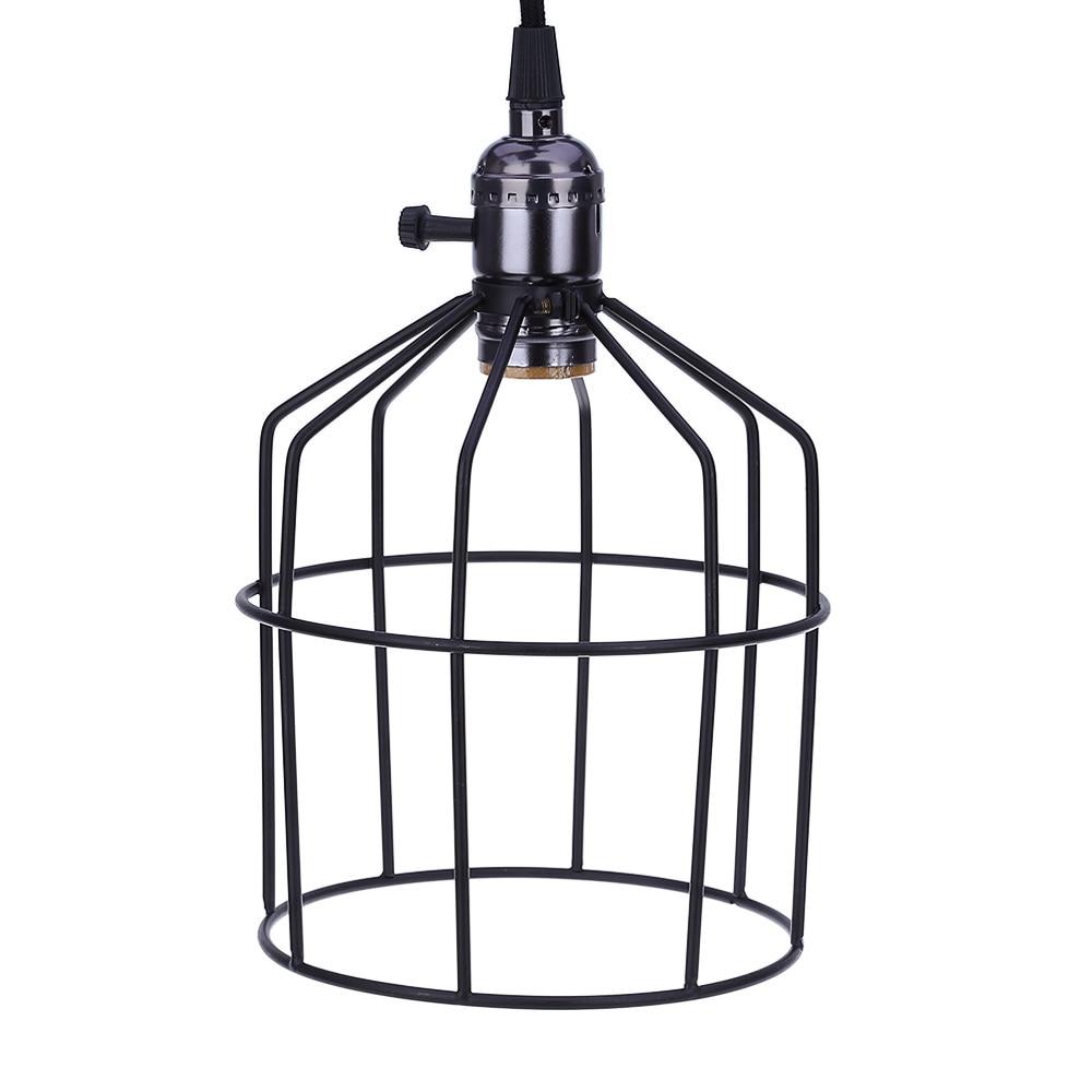 E27 Creative Retro Cage Wire Lamp Guard Hanging Light Simple Fashion ...