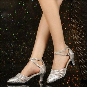 Image 2 - HoYeeLin Moderne Standaard Dance Hakken Vrouwen Dames Gesloten Teen Tango Wals Dansen Schoenen Indoor Zool