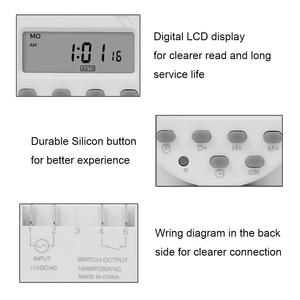 Image 3 - CN101A modèle économique Mini minuterie interrupteur 12v LCD numérique 7 jours Programmable minuterie four minuterie interrupteur 16a minuterie ca minuterie de semaine