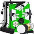 Осветительный тент для фотостудии ABESTSTUDIO, лампа софтбокса 45 Вт, 5 розеток, консольная стойка для освещения