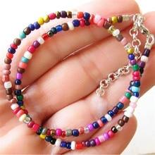 Rainbow Beads Choker Necklace
