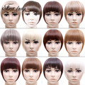 16 Colors Natural Thick Synthetic Hair Bangs Hairpiece Clip In Bnags Fringe False Fake Hair Piece 30g Clip In Hair Extensions