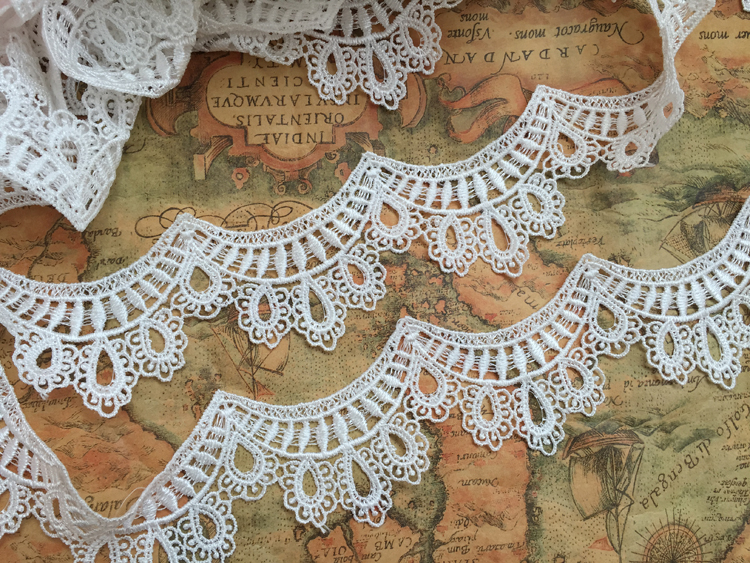 6CM delicate venice lace trim ivory lace trim yard embroidered water  soluble scallop lace trimming 5 yards/lot free shipping-in Lace from Home &  Garden on ...